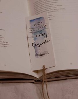 Marcapaginas No molestar estoy leyendo